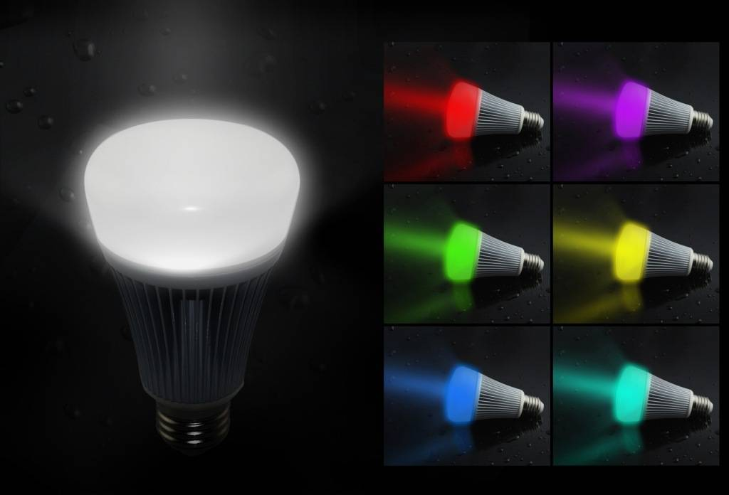 MagicLight Bluetooth Smart LED Light Bulb - Smartphone Controlled Lights - Dimmable Multicolored Col