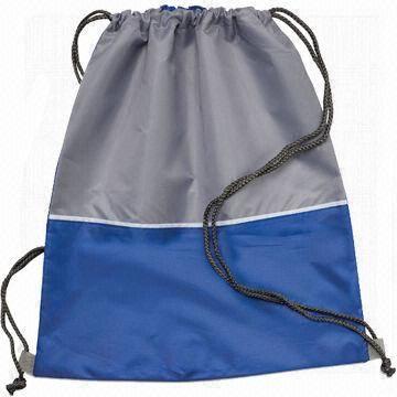 Polyester/nylon drawstring backpack