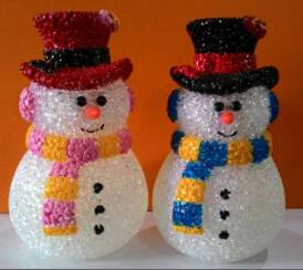 EVA&LED Christmas decorative lights,Valentine Snowman with Button-cell,xmas lights