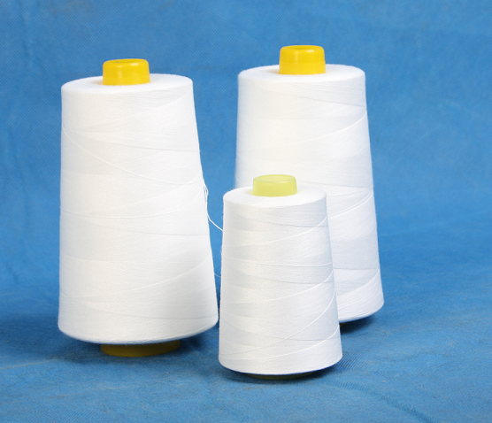 raw white polyester thread for Mattresses