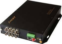 HC1008 8-channel digital video fiber optic transmitter/receiver