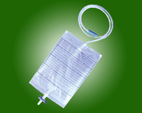 Hospital Use Kinds Of Medical Grade PVC Drainage Urine Bags with cross valve Valve with CE and ISO