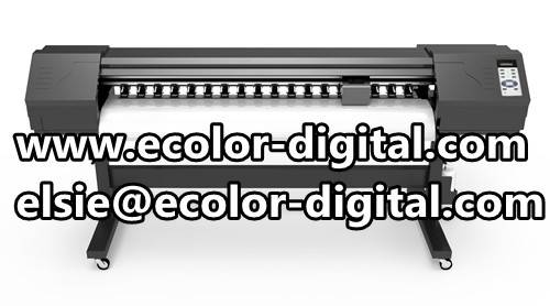 Eco solvent printing machine, with 2pcs DX7 heads, 1440dpi indoor high definition printer