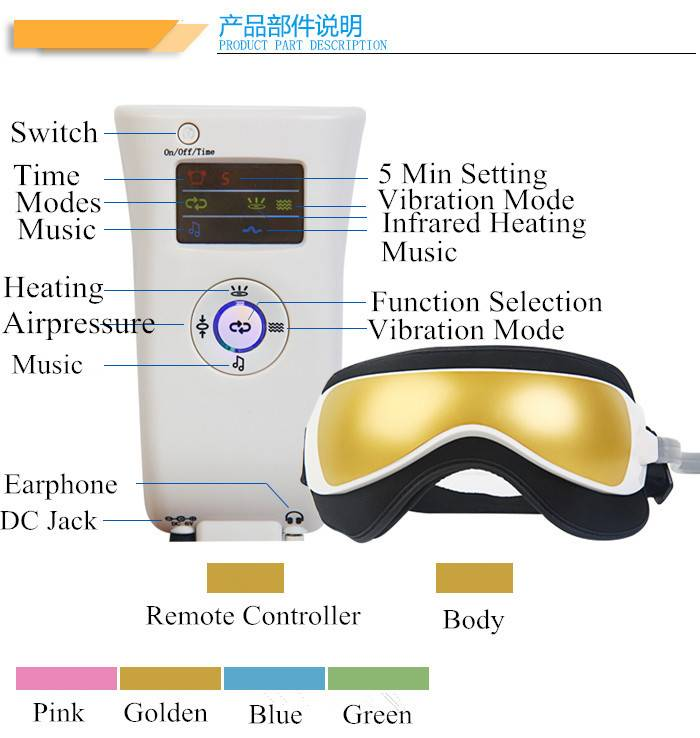 Vibrating Eye Massager for Home and Office Dual Use