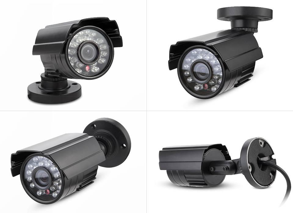 AHD 960P Camera 24pcs leds light night vision 3.6mm lens metal bullet security camera