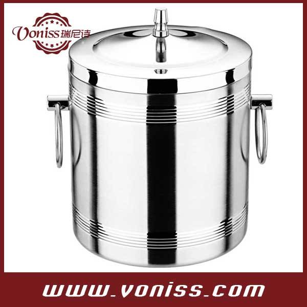 Bucket, Stainless Steel Champagne / Wine Bucket With Handle,Thread ice bucket,1.0L,1.4L and 2.0L