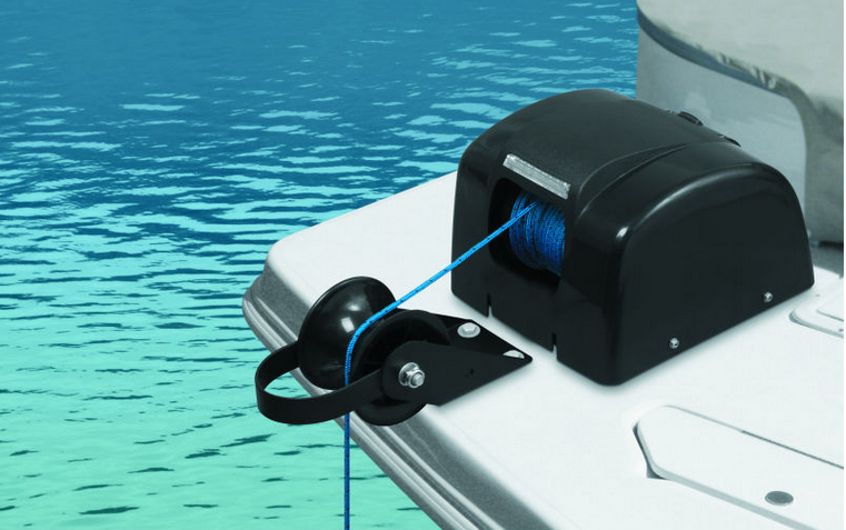 Marine Boat 12V Electric AutoDepoly Anchor Winch Freshwater w/Wireless Remote 45LBS