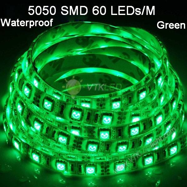 SMD5050 60led Flexible Waterproof led strip light 5m/roll high quatity led strip light
