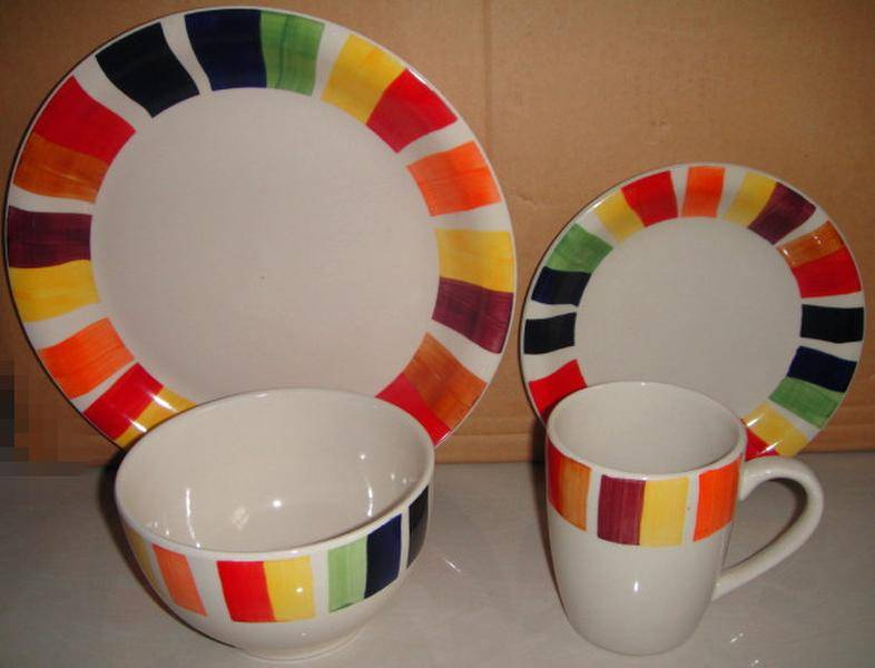 stoneware 16pcs dinnerware sets