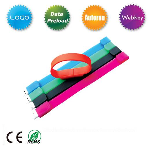 Silicone Bracelet USB Flash Drive for Promotional Gift