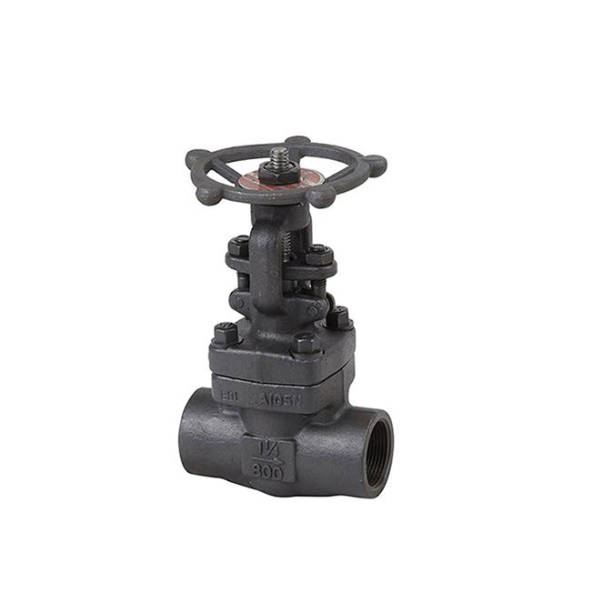 "ANSI CL800 11/4"" A105N forged inner thread socket welding gate valve"
