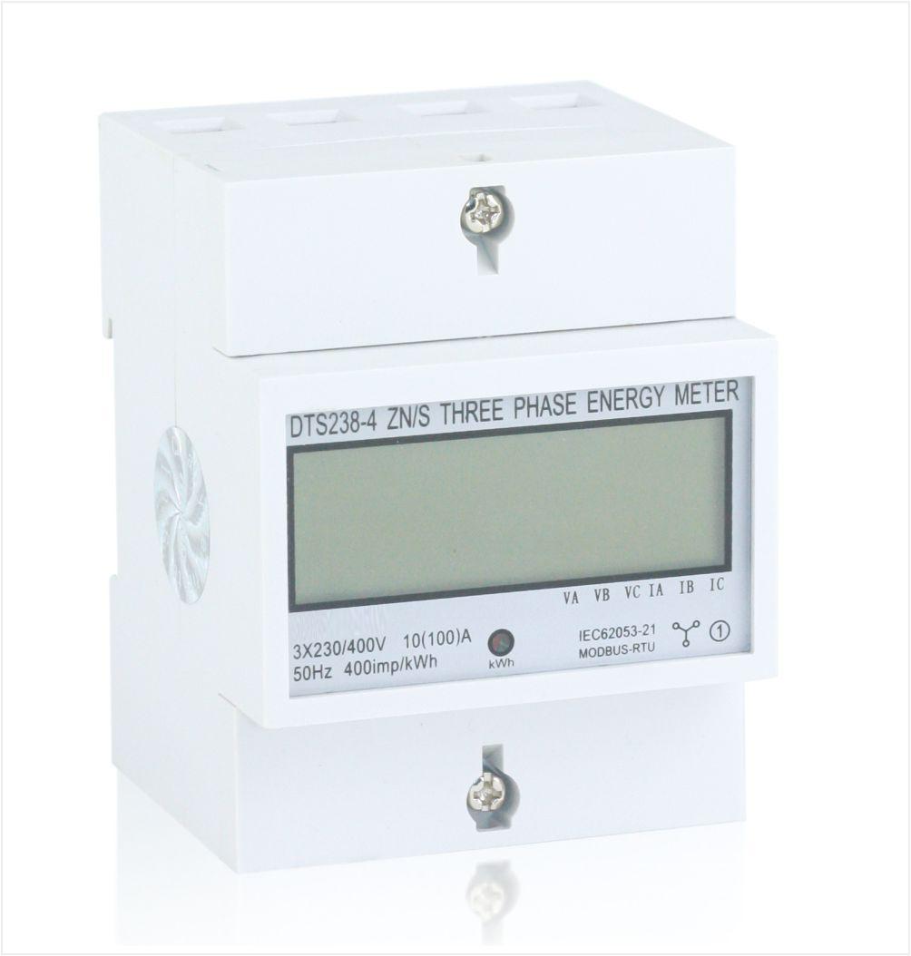 Three phase din rail multi-function energy meter, type DT(S)238-4 ZN/S