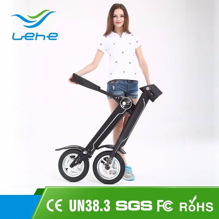 LEHE China New Model Cheap Foldable Dynamo Importer Small Folding Electric Bicycle