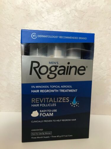 Men's Rogaine 5% Minoxidil Hair Regrowth Treatment Foam - 3 Months Supply