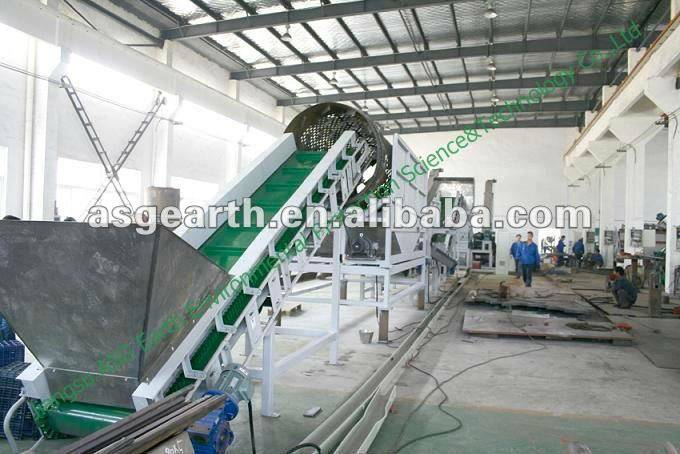 PET bottle recycling line flakes
