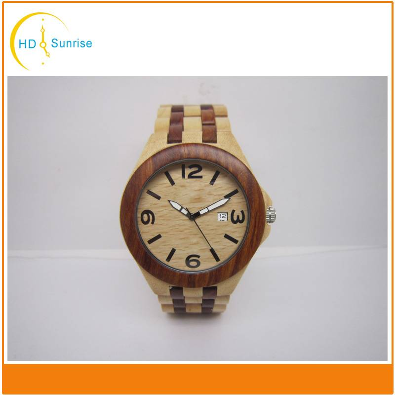 Quality Natural Mens Wood Watch Japan Movement Wooden Watch Manufacturer