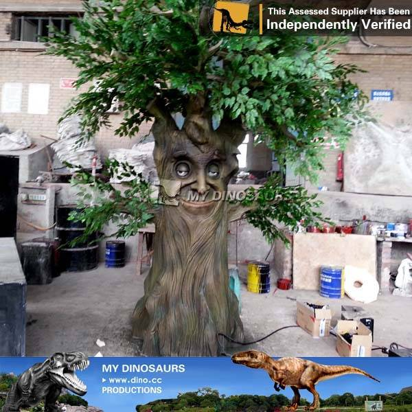 Kids playground animatronic talking tree