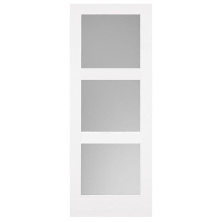 Frosted Glass Internal Door - Classics Primed White