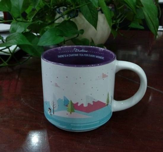factory direct China manufacturer ceramic city coffee mug with customized decal logo