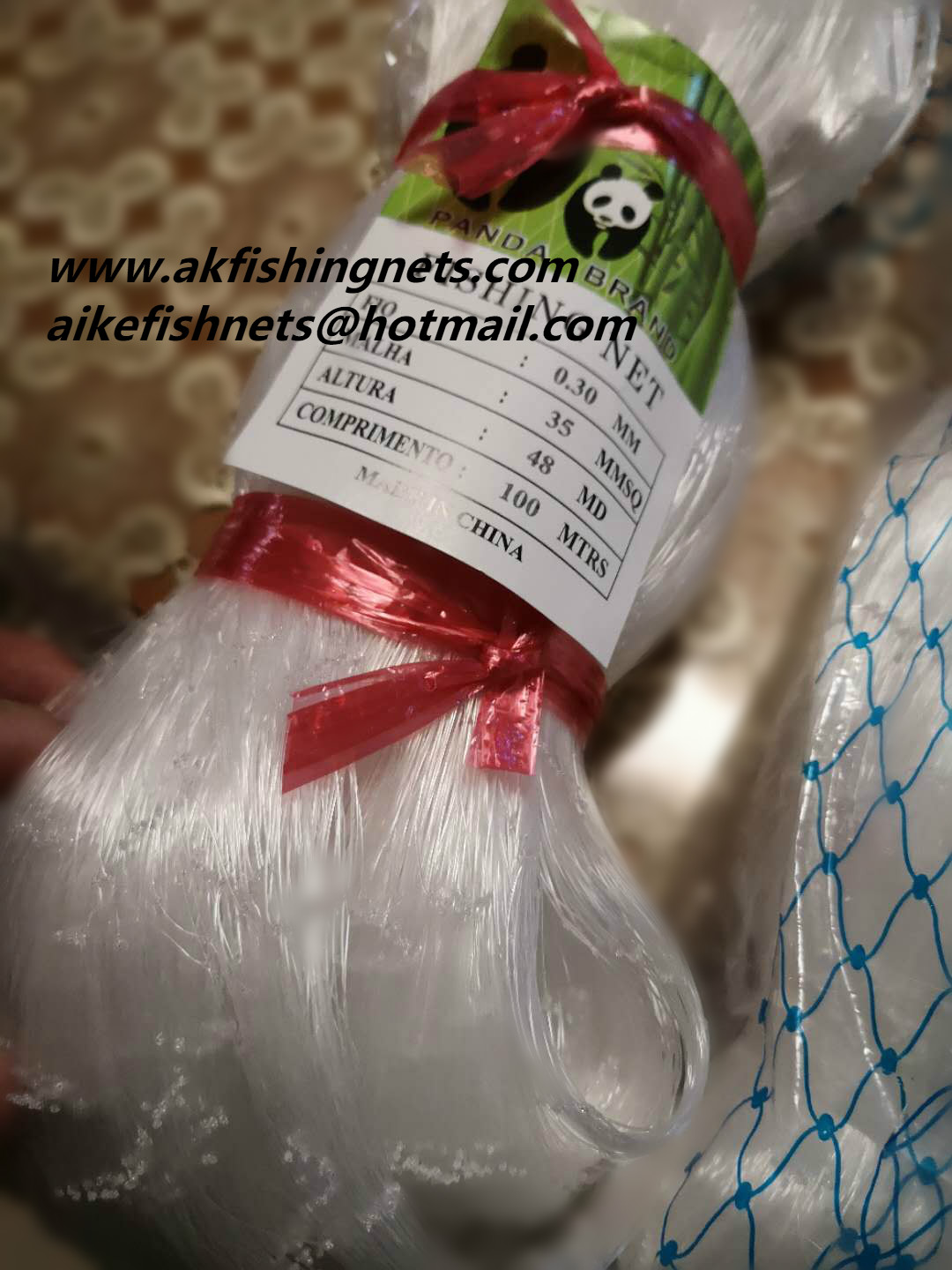 monofilament fishing nets0.30-0.40-0.50mm 48md double knot for European market