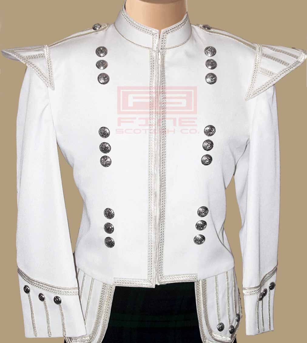 Military Doublet Jacket White Color