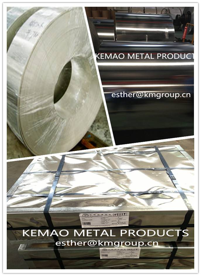 JIAINGYIN KEMAO TIN PLATE COILS FOR METAL FOOD CAN PACKAGING