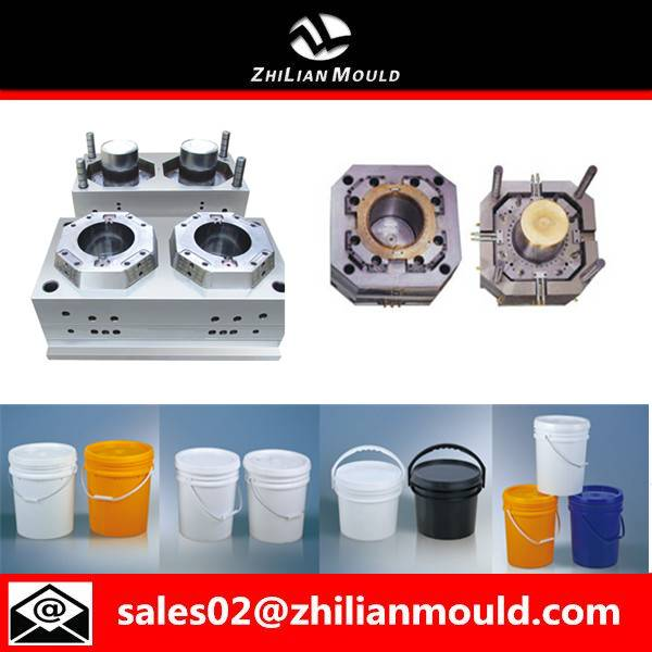 Taizhou customized plastic paint bucket mould with high quality