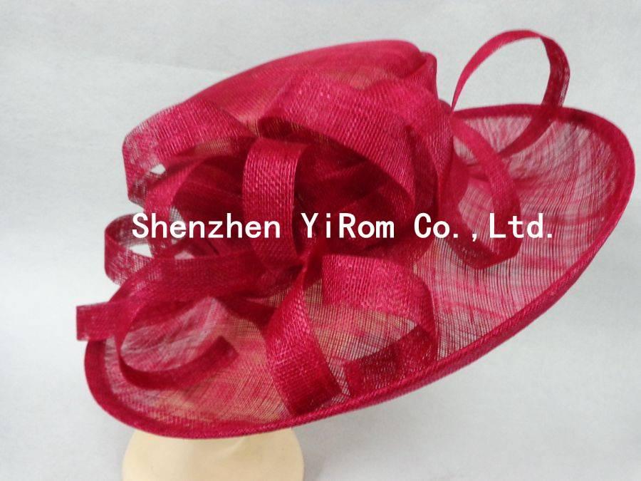 YRSM14080 sinamay hat, race hat,church hat,wedding hat,bridal hat