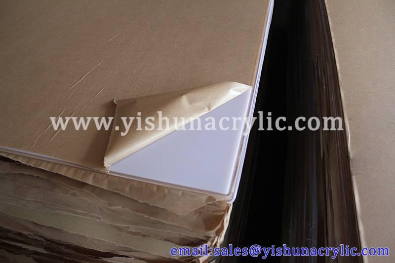 white acrylic plexiglass sheet