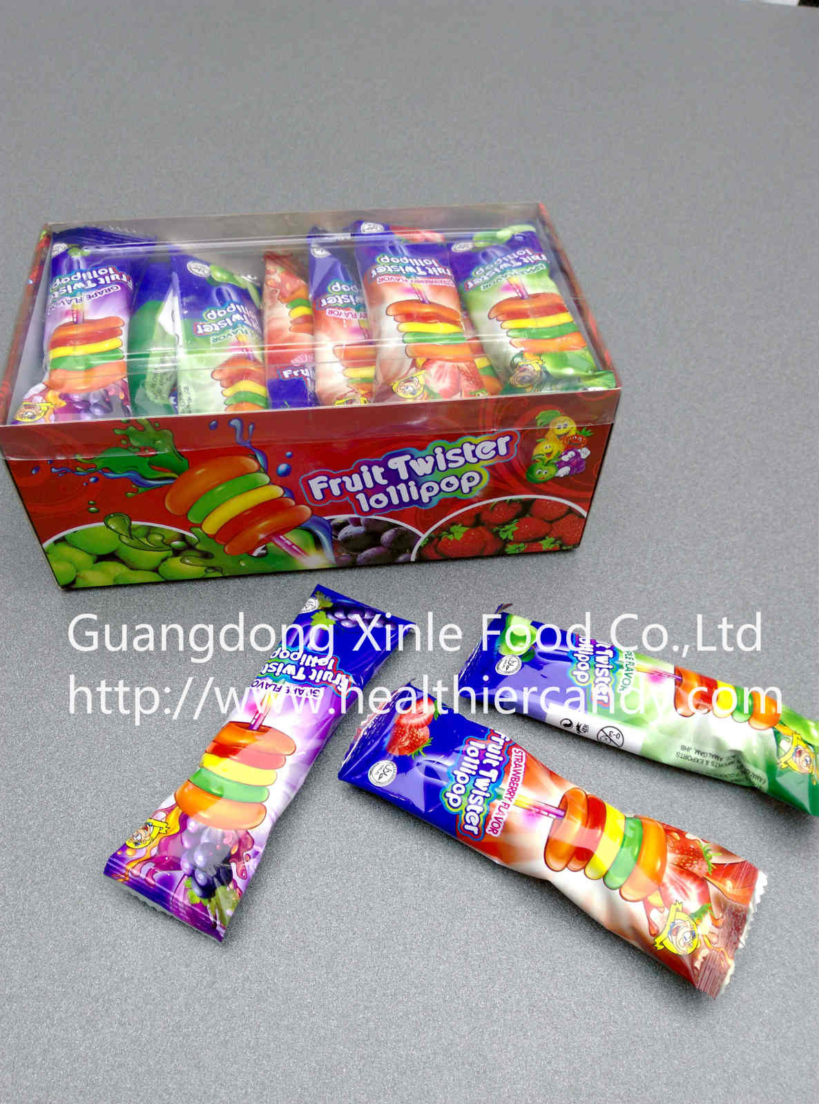 Hot Sale Fruit Twister Lollipop Funny Shape Sweet And Delicious