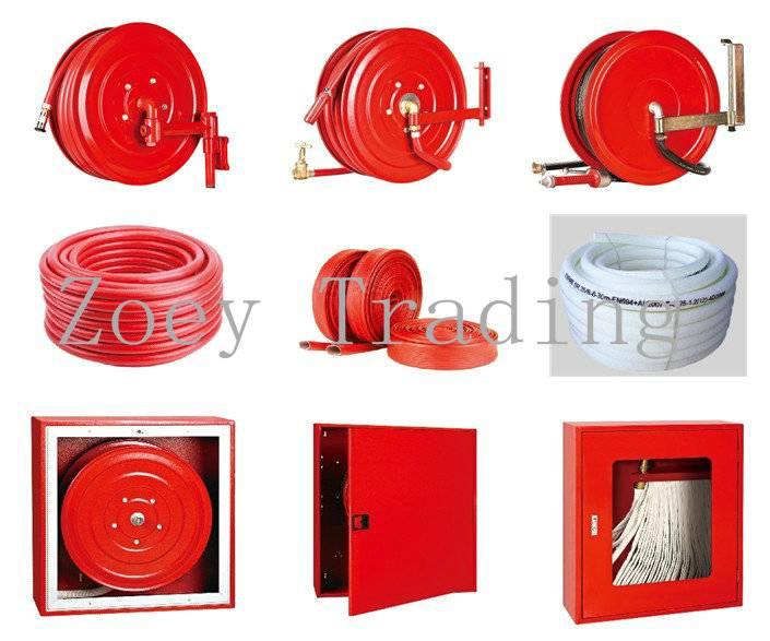fire hose, fire fighting hose, trolley extinguisher hose