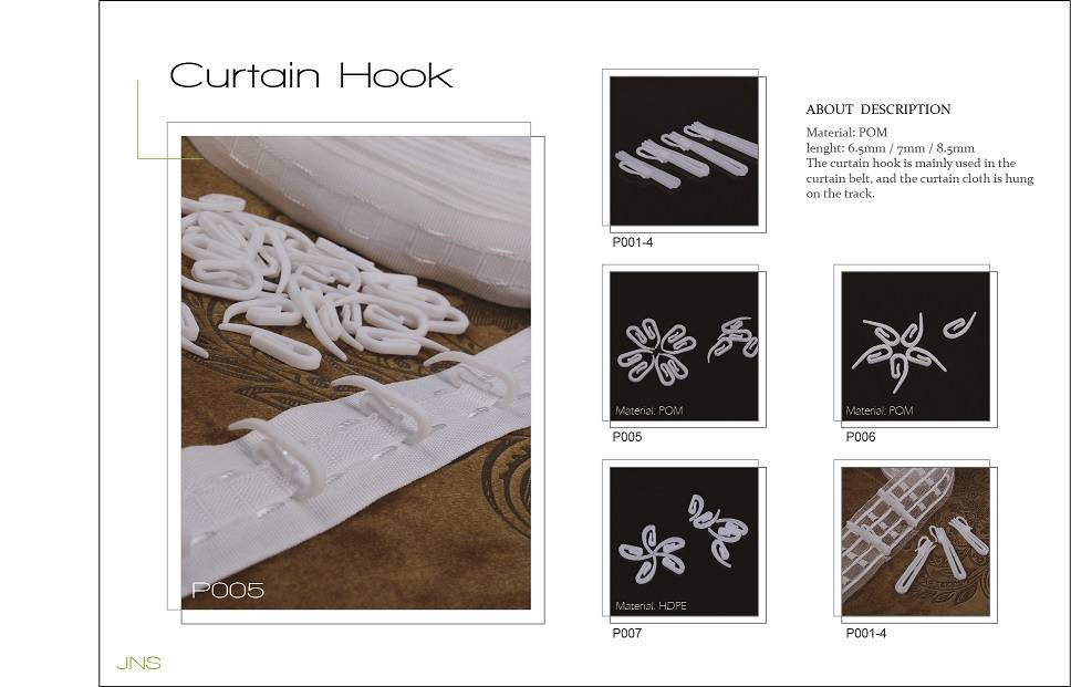 curtain pin hook, plastic curtain hook