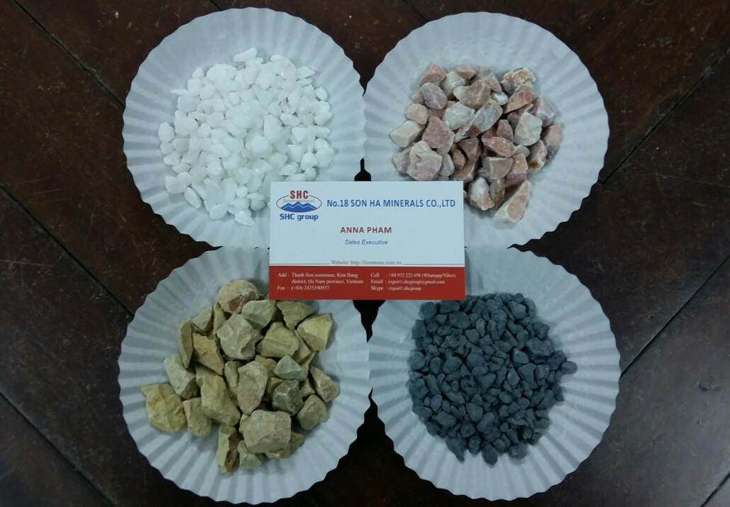 Decorate colored crushed stone chip