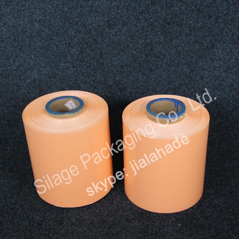 Orange Color, 250mm25mic1800m,Denmark silage film,Farm usage Silage Film