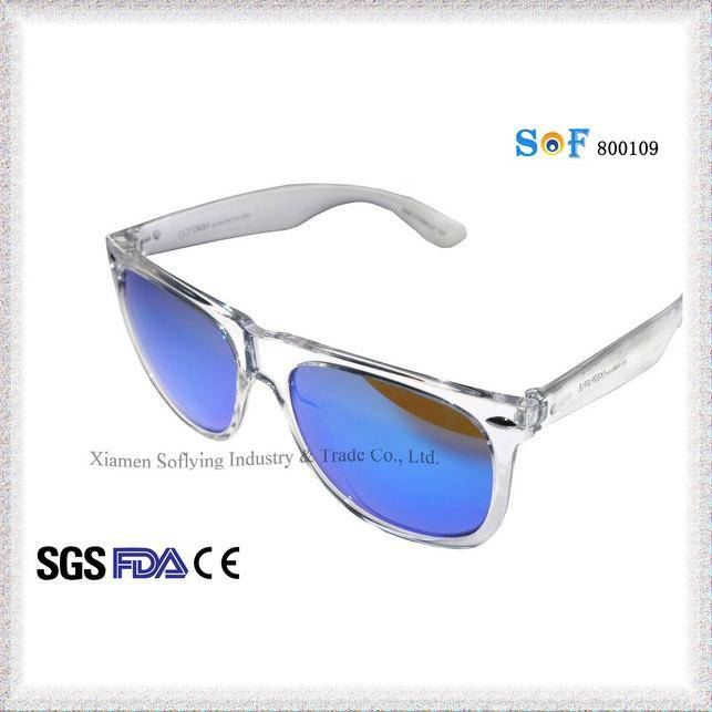 Cheap Fashion Design Salable Unseix PC Clear Sunglasses with Revo Lens