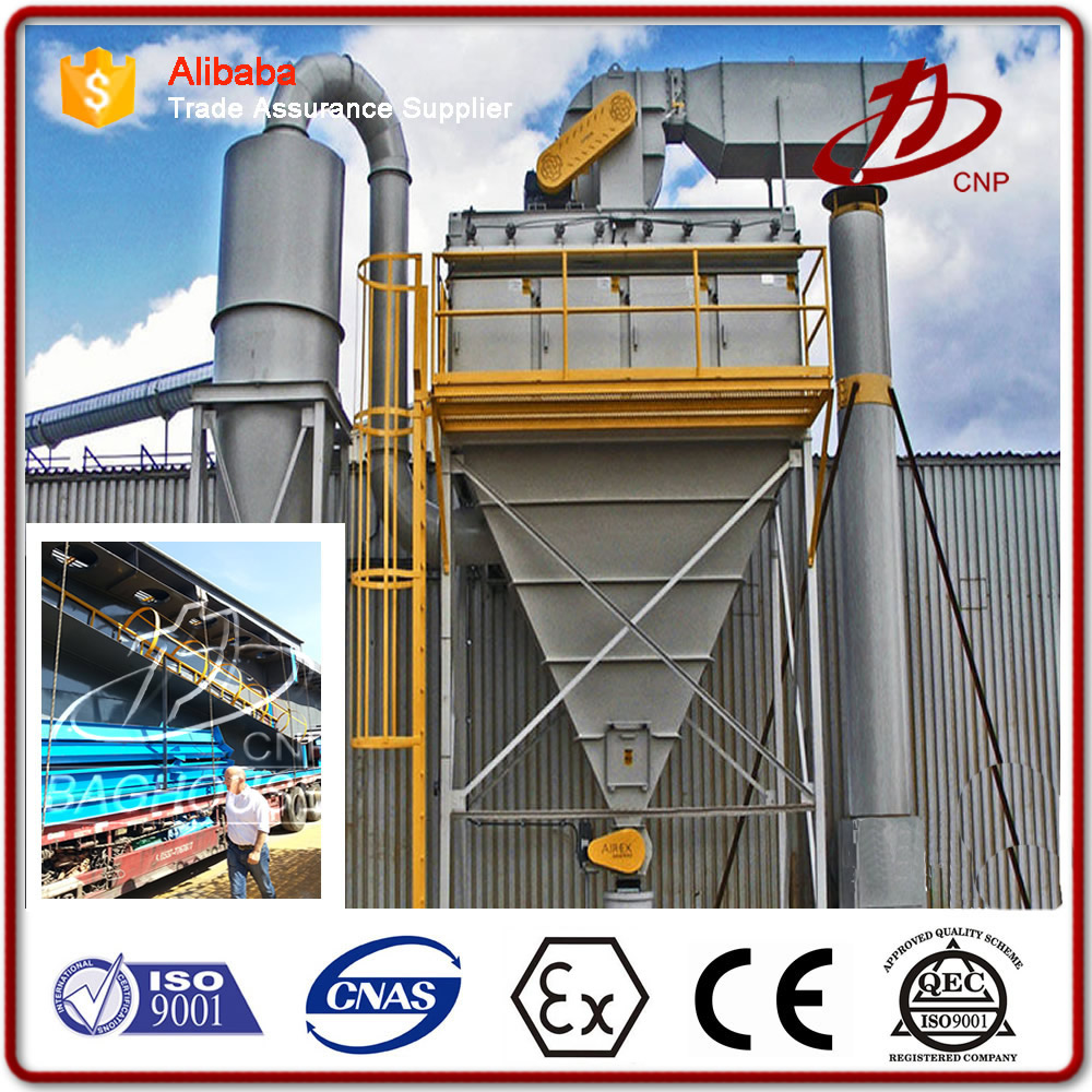Industrial fabric filter dust collector