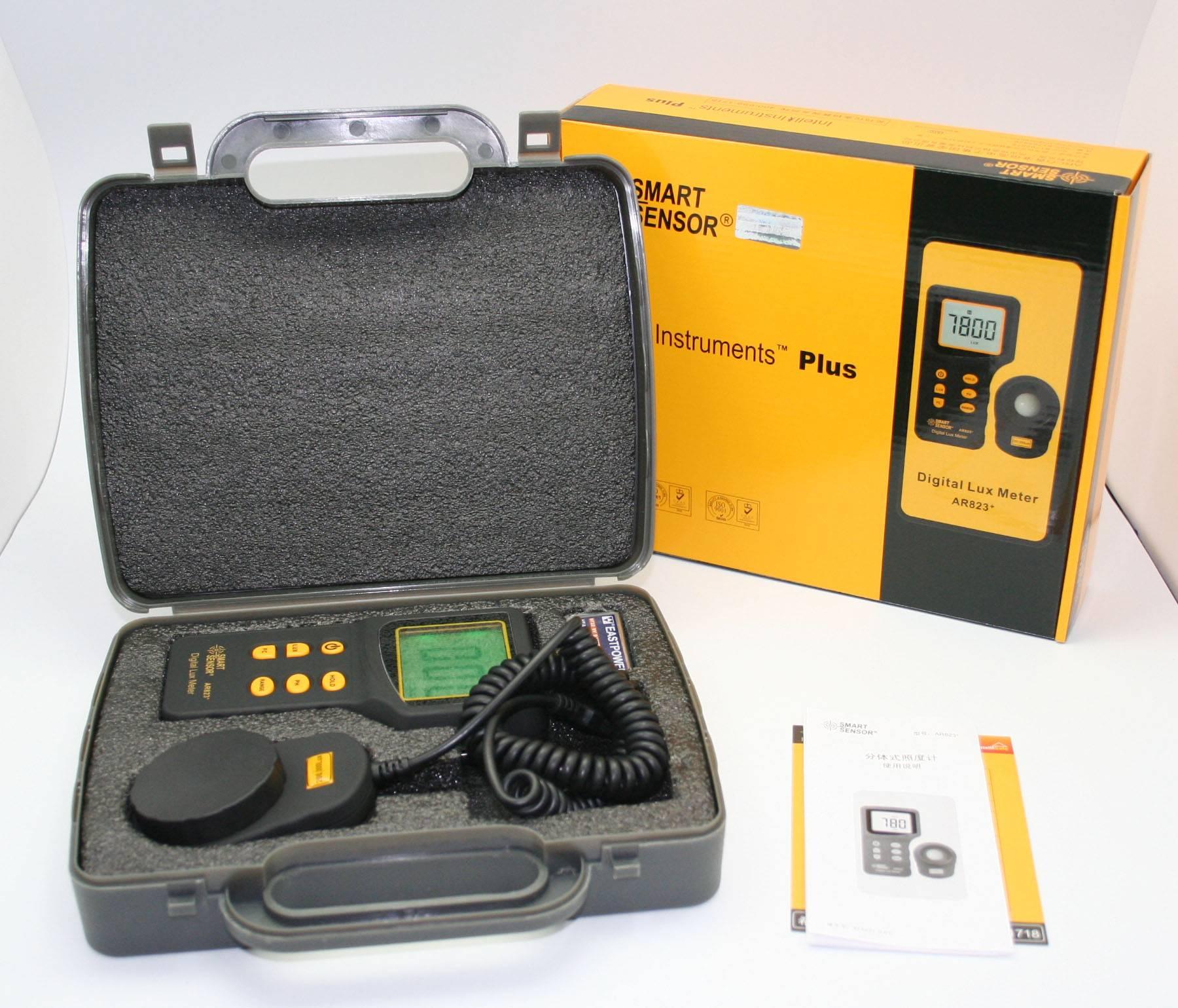 Smart Sensor Lux Meter AR823+