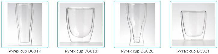 pyrex glass cups