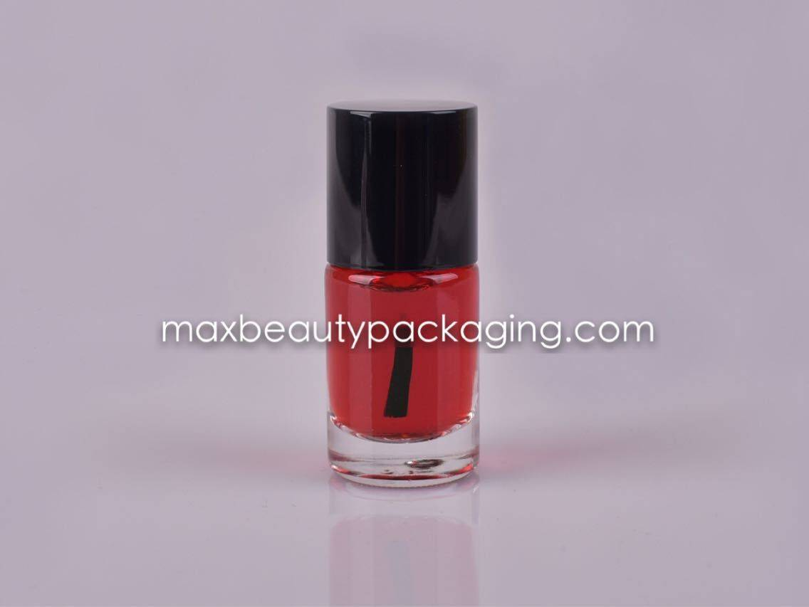 NP-023 Nail Polish packaging nail polish cap round nail polish bottle 11ml flat brush