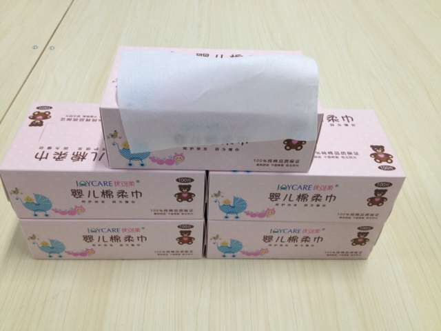 Facial cleansing pure cotton tissue
