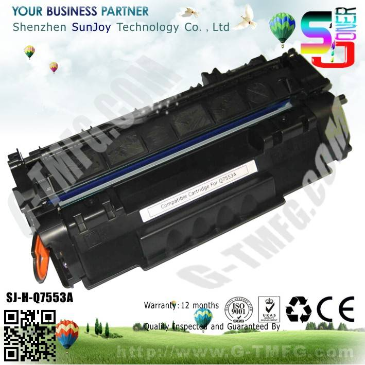 Sunjoy 53A  toner cartridge Q7553A compatible for HP Laserjet 2014 2015