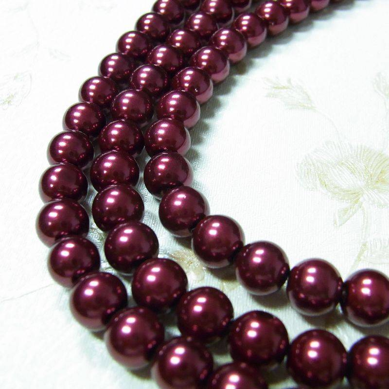 red dyed pearl losse beads