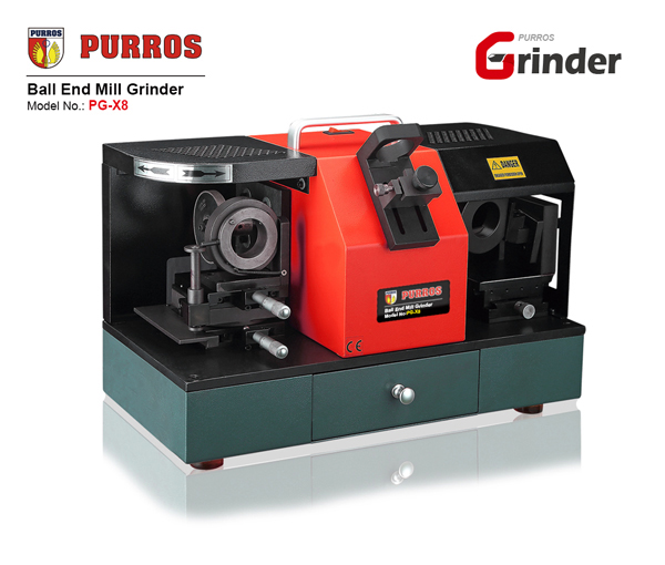 PURROS PG-X8 Ball End Mill Grinder, Ball End Mill Sharpener Grinding Machine