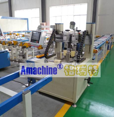Two-axis CNC Knurling Machine for thermal break aluminum profile