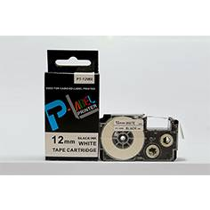 compatible 12mm black on white tape XR-12WE for Casio EZ-label printers