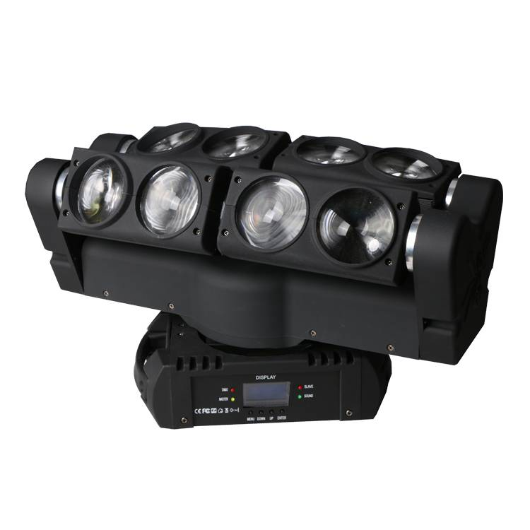 Double row 8 eyes led beam moving head light 8*10w RGBW Cree 4IN1 Led Spider effect light 10%off Fre