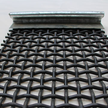 High Carbon steel wire screen with Hook / Mining Screen mesh /Crimped wire mesh