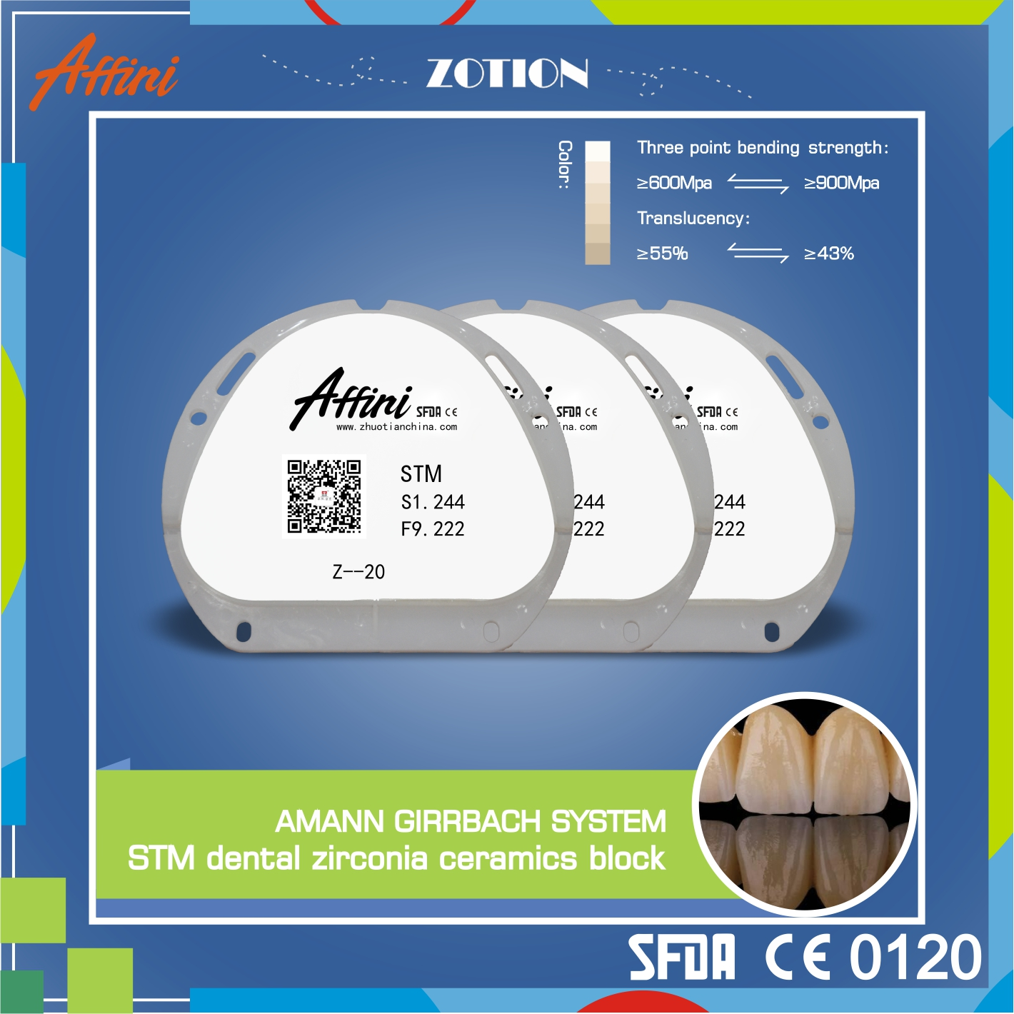 Pre-Colored Zirconia Blanks CAD/CAM Zirconia Milling Discs Dental Zirconia DiskZirconia Milling Disc