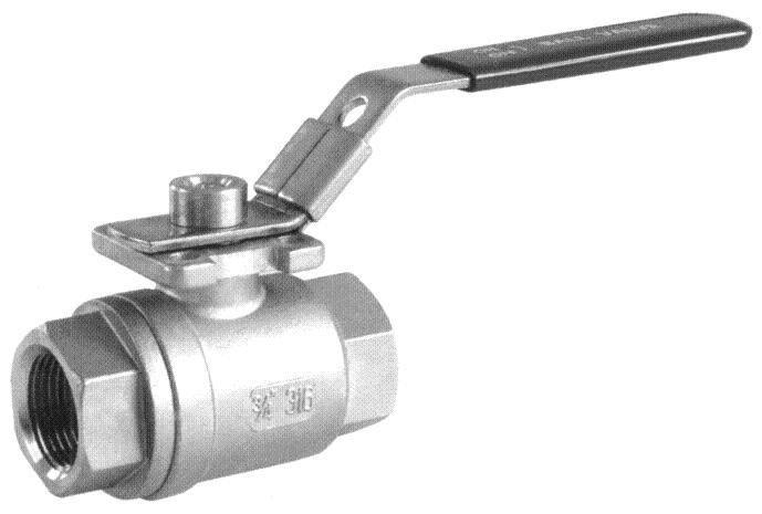 2 piece full bore ball valve