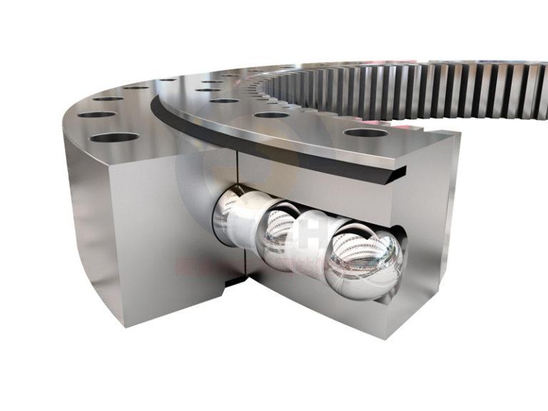 Excavator wear parts slewing bearings